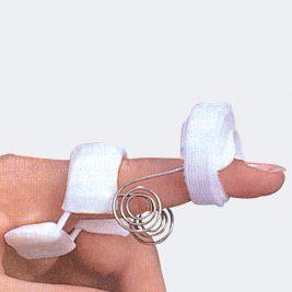 Ferula per estensione dinamica del dito è un supporto indicato in caso di contratture in estensione dell'articolazione interfalangea post-operatorio del tendine