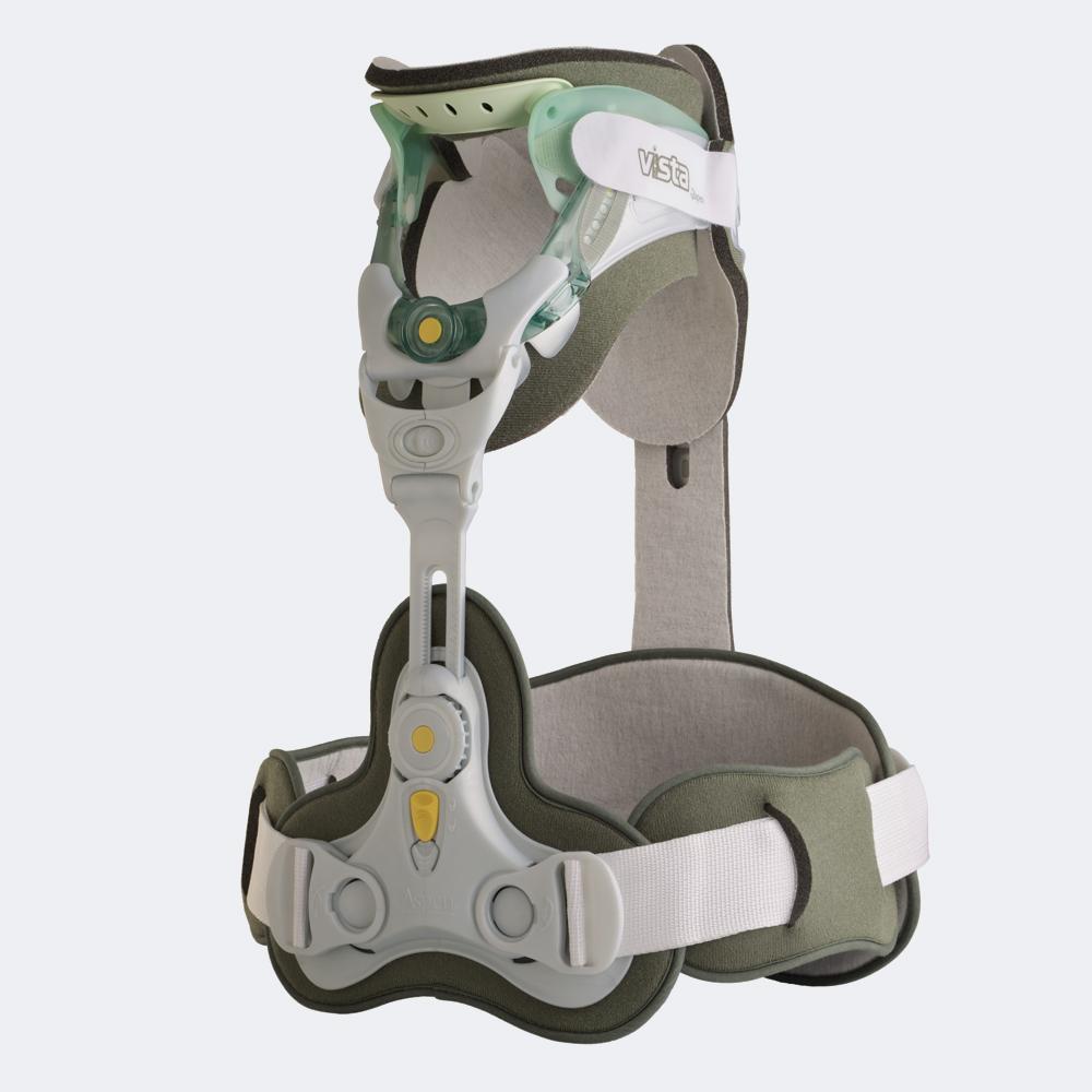 Immobilizzatore cervico-toracico radiotrasparente (Minerva) Aspen Vista CTO 4 Tutore cervico-toracico bivalve regolabile in altezza